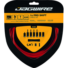 Jagwire 1X Pro Shift Set de câble de dérailleur, red